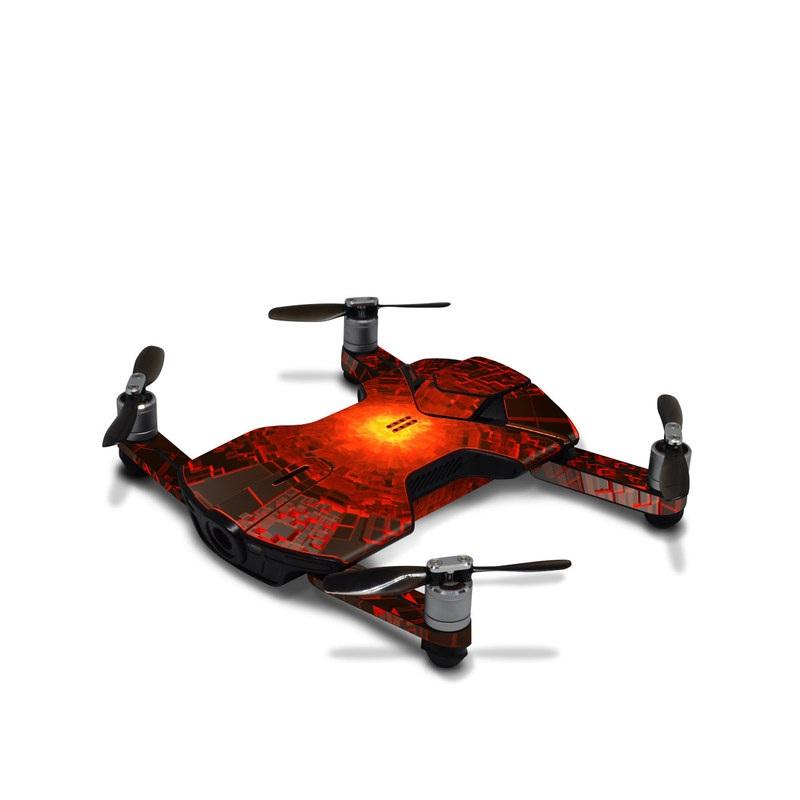 Wingsland S6 Skin design of Red, Fractal art, Light, Circle, Design, Art, Graphics, Symmetry, Pattern, Space with black, red colors