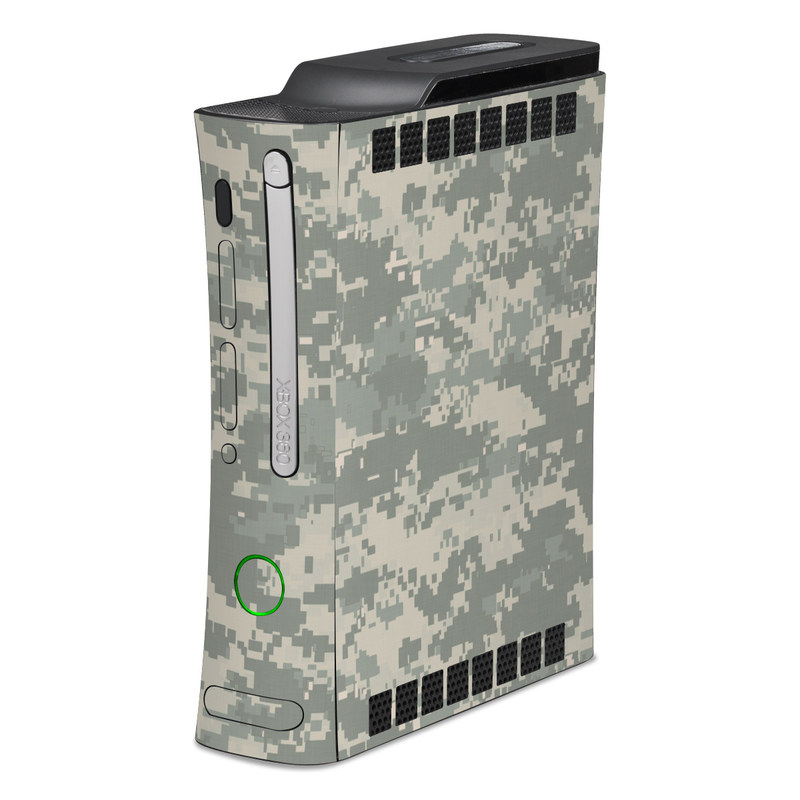 Old Xbox 360 Skin design of Military camouflage, Green, Pattern, Uniform, Camouflage, Design, Wallpaper with gray, green colors