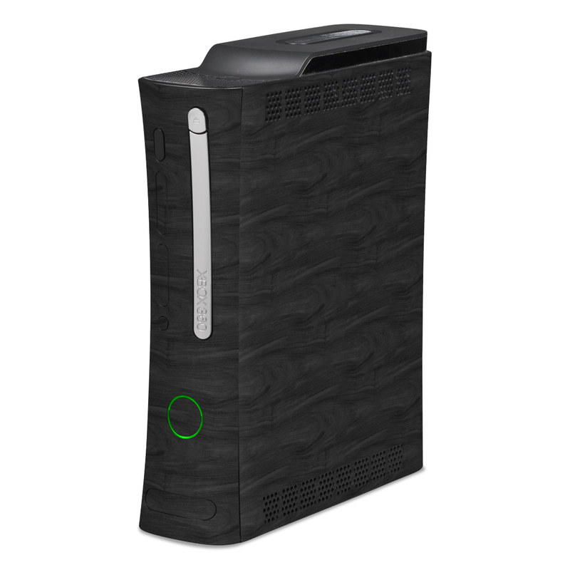 Black Woodgrain Xbox 360 Skin