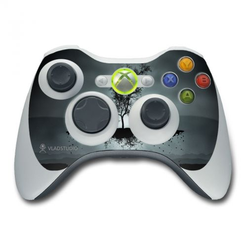 Flying Tree Black Xbox 360 Controller Skin