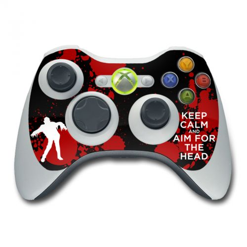 Keep Calm - Zombie Xbox 360 Controller Skin