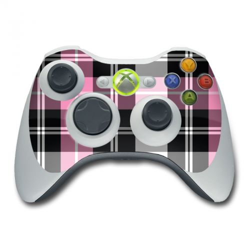 Pink Plaid Xbox 360 Controller Skin