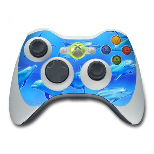 Swimming Dolphins Xbox 360 Controller Skin