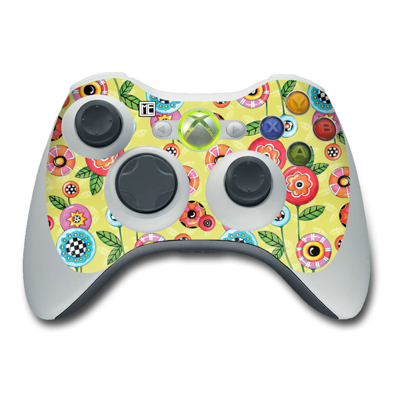 Button Flowers Xbox 360 Controller Skin