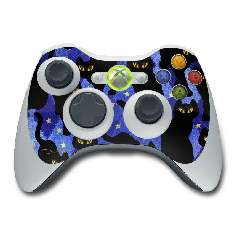 Cat Silhouettes Xbox 360 Controller Skin
