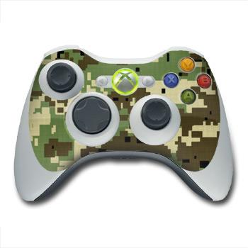 Digital Woodland Camo Xbox 360 Controller Skin