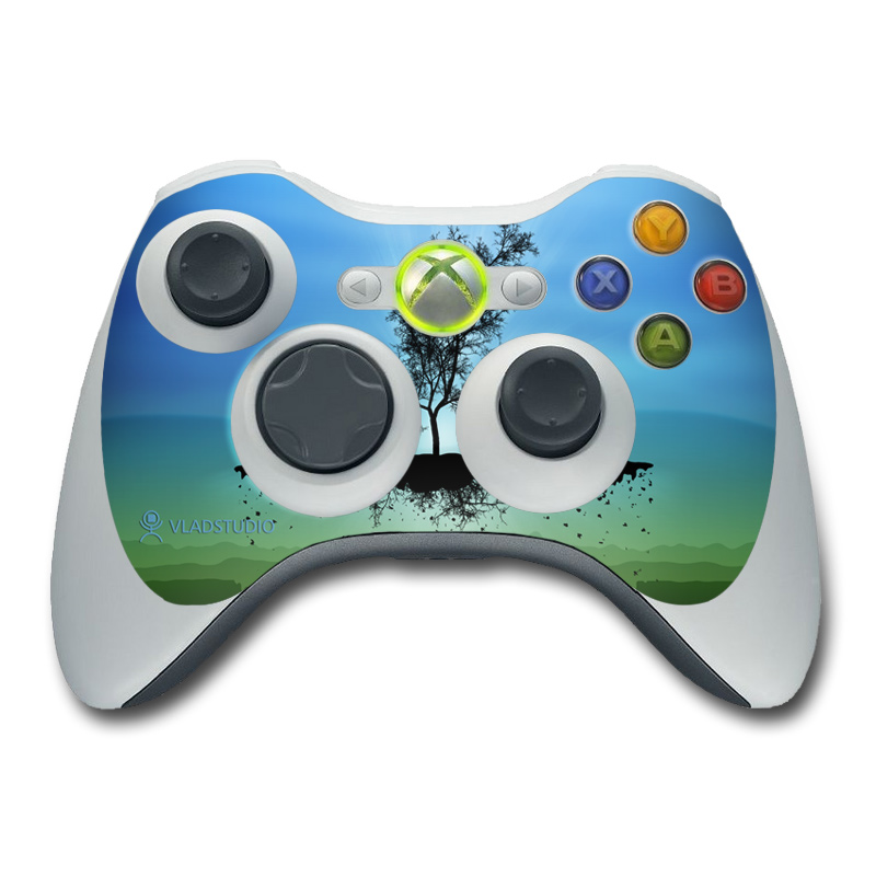 Flying Tree Blue Xbox 360 Controller Skin