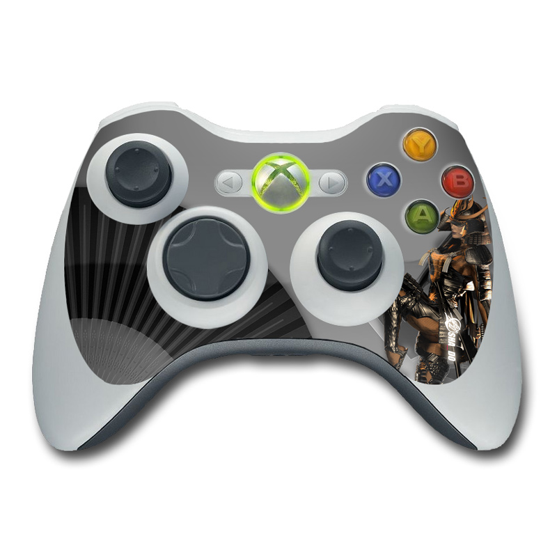 Xbox 360 Controller Skin design of Cg artwork, Fictional character, Action figure with black, yellow, gray, white colors