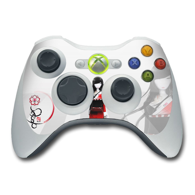 Xbox 360 Controller Skin design of Fashion illustration, Fashion, Black hair, Illustration, Fashion design, Hime cut, Costume, Style, Costume design with gray, white, black, red colors