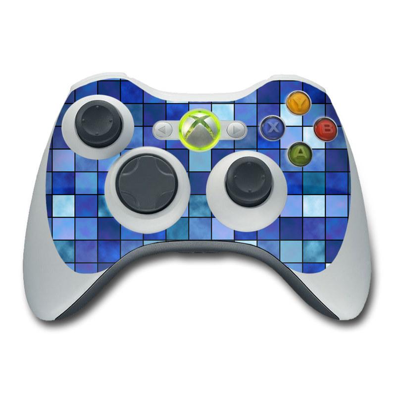 Blue Mosaic Xbox 360 Controller Skin