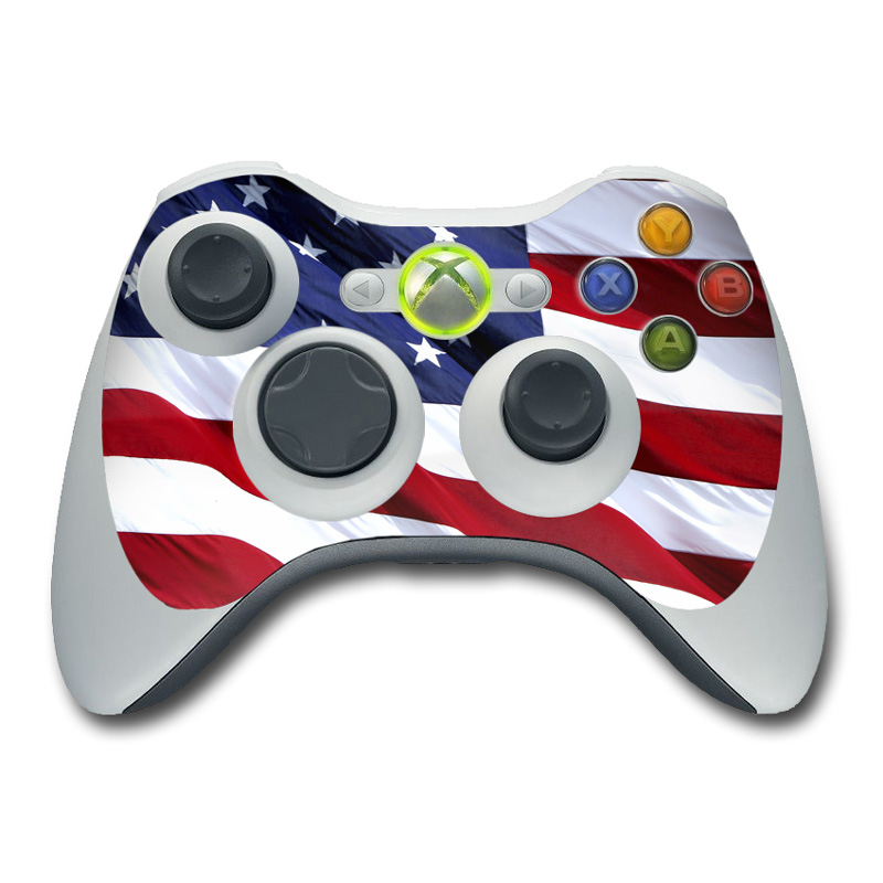 Patriotic Xbox 360 Controller Skin