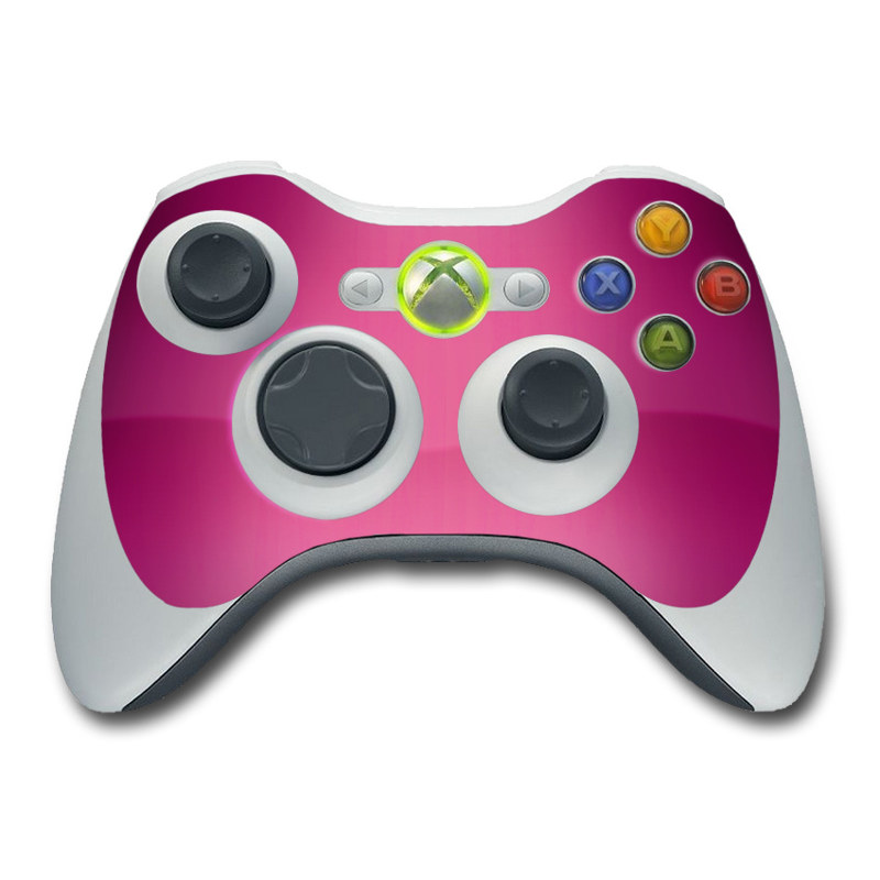 Xbox 360 Controller Skin design of Pink, Violet, Red, Purple, Magenta, Lilac, Material property, Pattern with red, purple colors