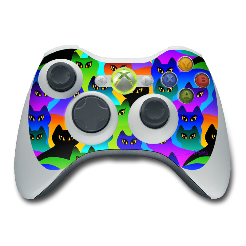 Rainbow Cats Xbox 360 Controller Skin