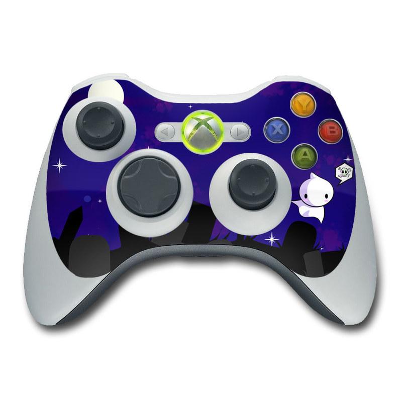 Xbox 360 Controller Skin design of Cartoon, Violet, Blue, Purple, Illustration, Animated cartoon, Sky, Graphic design, Space, Clip art with black, blue, white, gray, purple colors