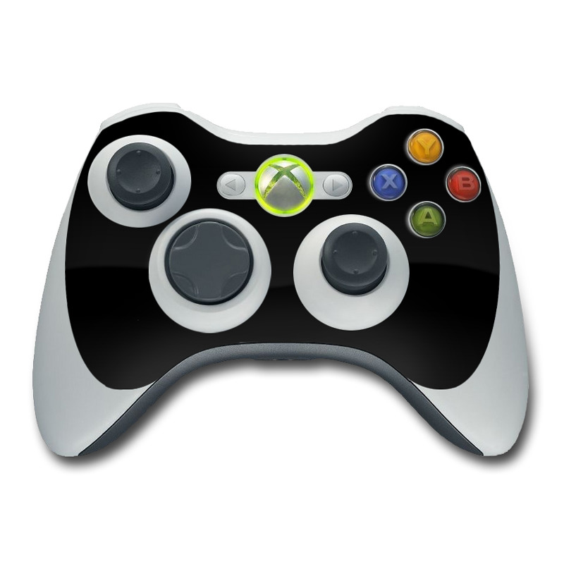 Xbox 360 Controller Skin design of Black, Darkness, White, Sky, Light, Red, Text, Brown, Font, Atmosphere with black colors