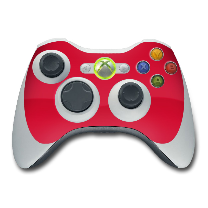 Solid State Red Xbox 360 Controller Skin