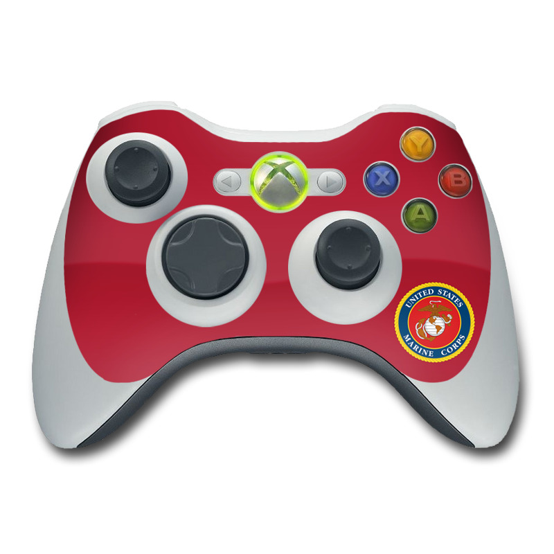 USMC Red Xbox 360 Controller Skin