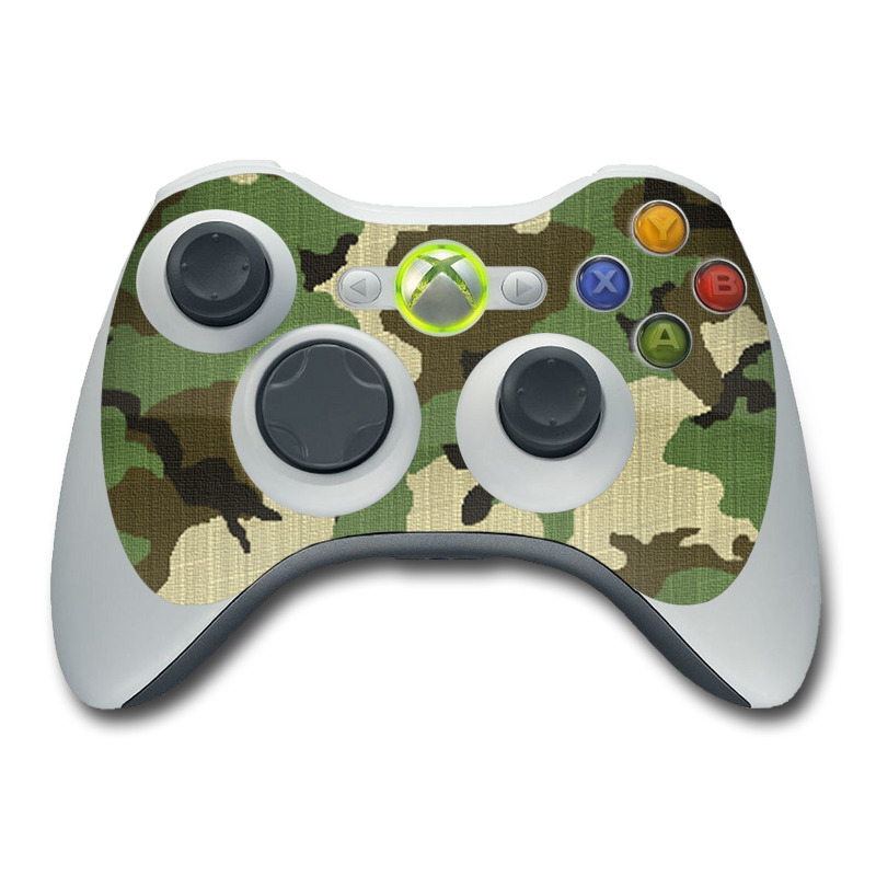 Woodland Camo Xbox 360 Controller Skin