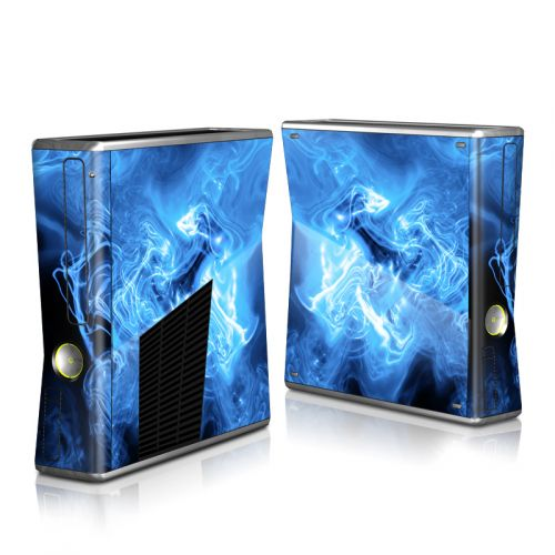 Blue Quantum Waves Xbox 360 S Skin