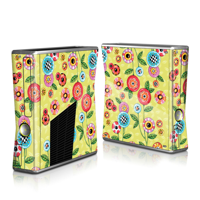 Button Flowers Xbox 360 S Skin