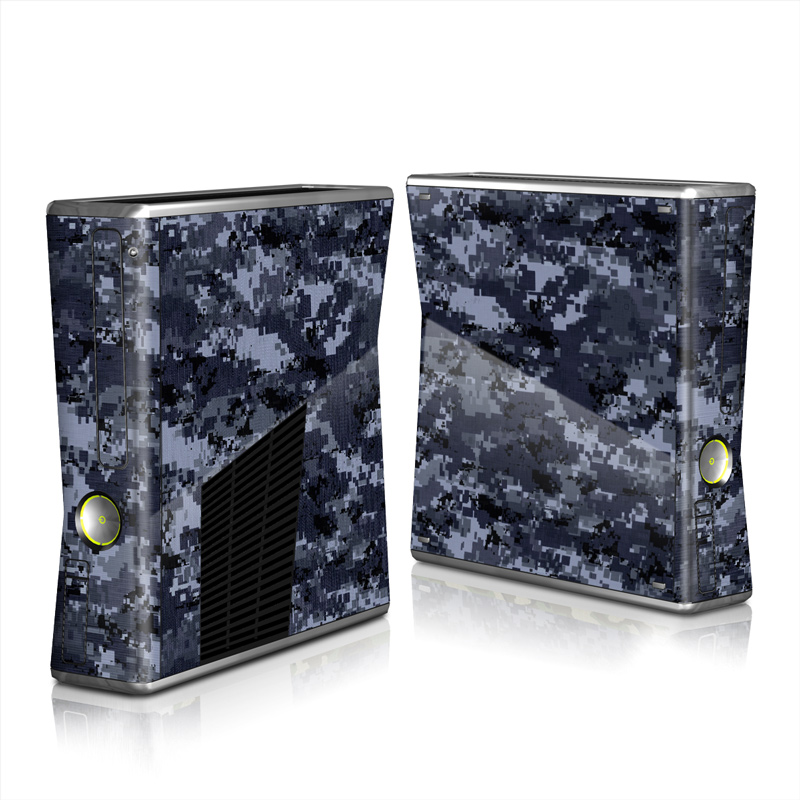 Digital Navy Camo Xbox 360 S Skin