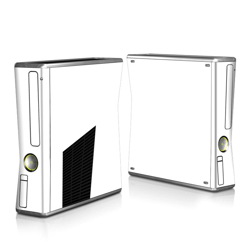 Xbox 360 S Skin design of White, Black, Line with white colors