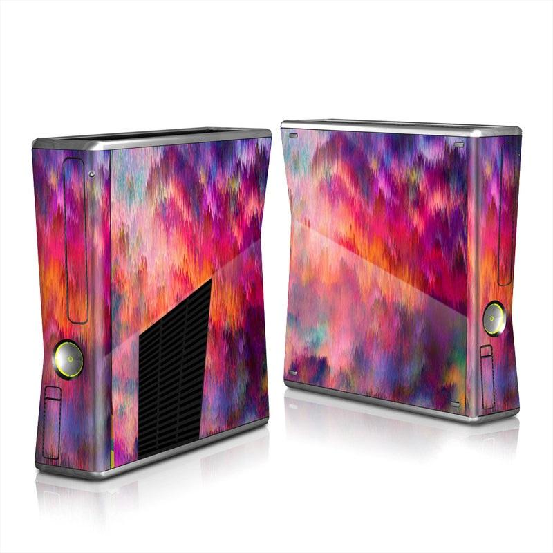 Xbox 360 S Skin design of Sky, Purple, Pink, Blue, Violet, Painting, Watercolor paint, Lavender, Cloud, Art with red, blue, purple, orange, green colors