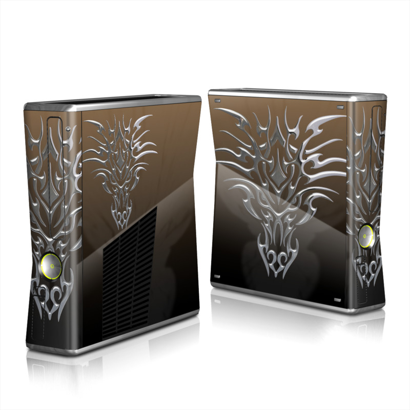 Tribal Dragon Chrome Xbox 360 S Skin