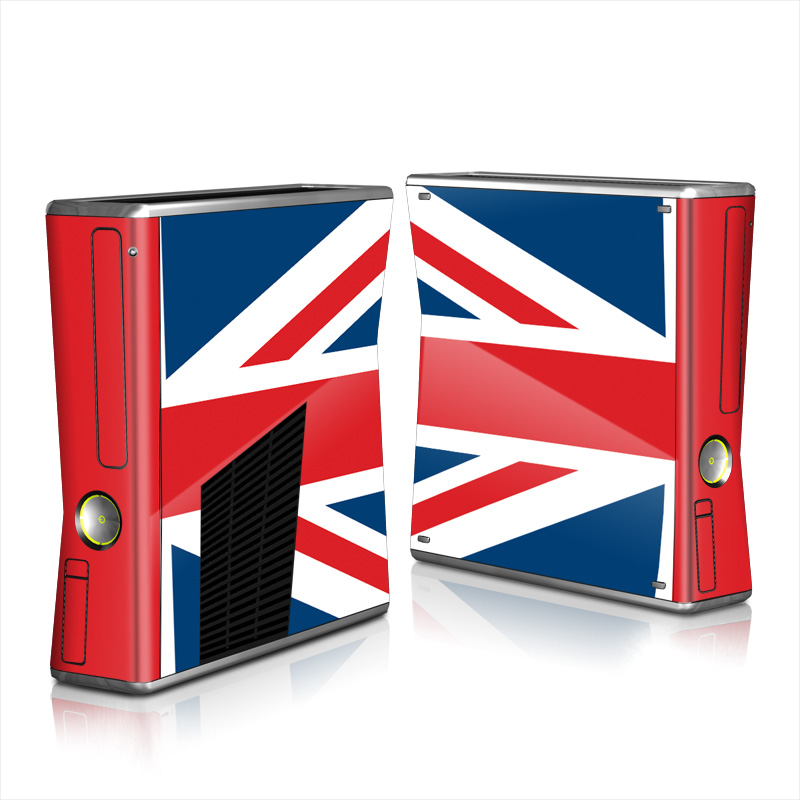 Xbox 360 S Skin design of Flag, Red, Line, Electric blue, Design, Font, Pattern, Parallel, Flag Day (USA) with red, white, blue colors