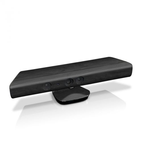 Black Woodgrain Kinect for Xbox 360 Skin