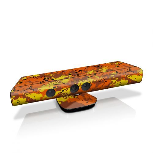 Digital Orange Camo Kinect for Xbox 360 Skin