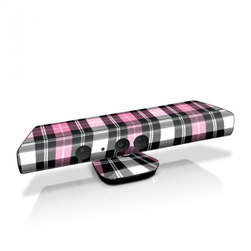 Pink Plaid Kinect for Xbox 360 Skin
