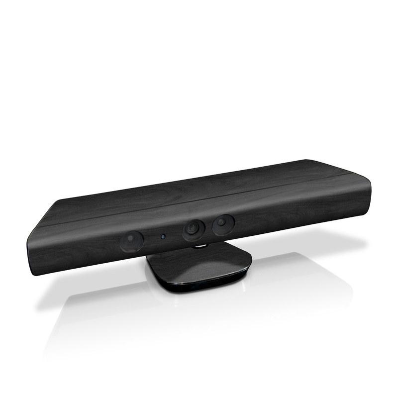 Black Woodgrain Kinect for Xbox 360 Skin