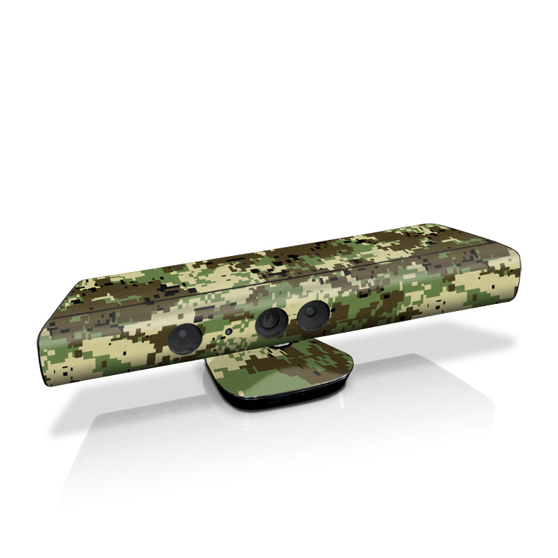Xbox 360 Kinect Skin design of Military camouflage, Pattern, Camouflage, Green, Uniform, Clothing, Design, Military uniform with black, gray, green colors