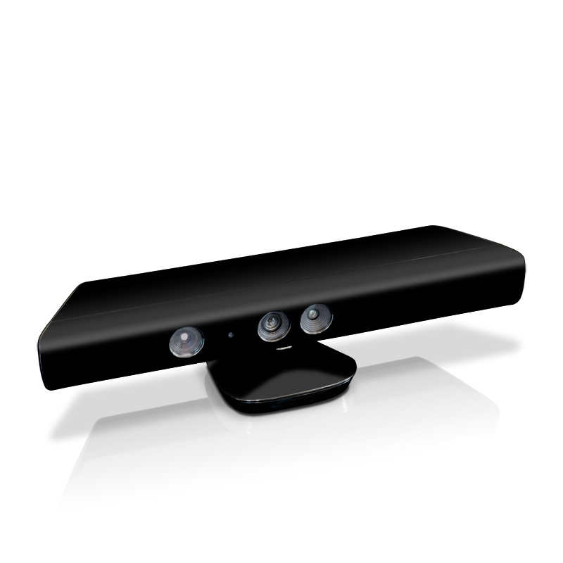 Solid State Black Kinect for Xbox 360 Skin