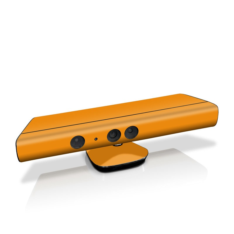 Xbox 360 Kinect Skin design of Orange, Yellow, Brown, Text, Amber, Font, Peach with orange colors
