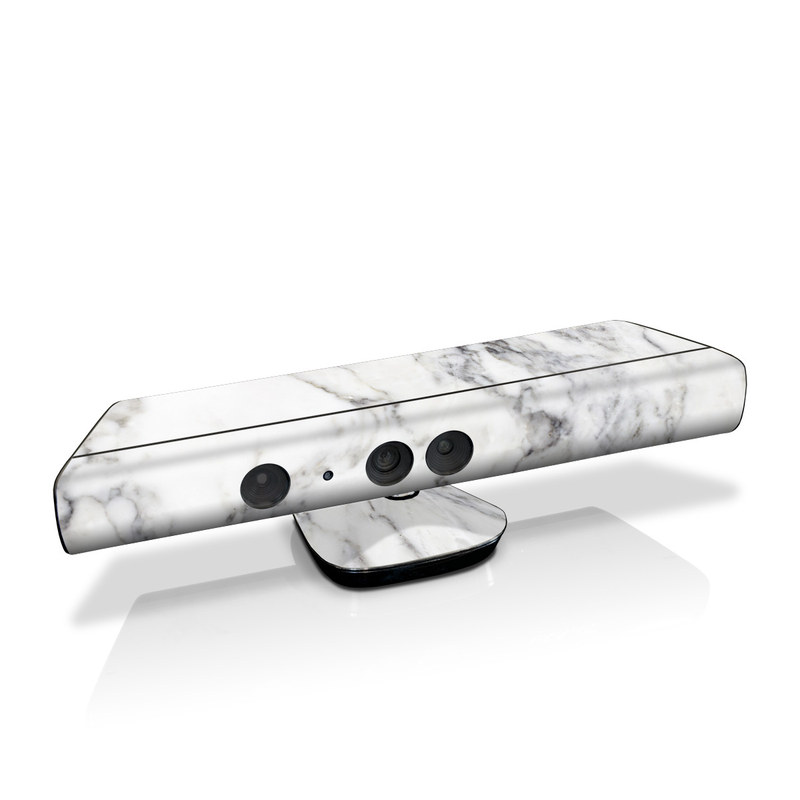 Xbox 360 Kinect Skin design of White, Geological phenomenon, Marble, Black-and-white, Freezing with white, black, gray colors