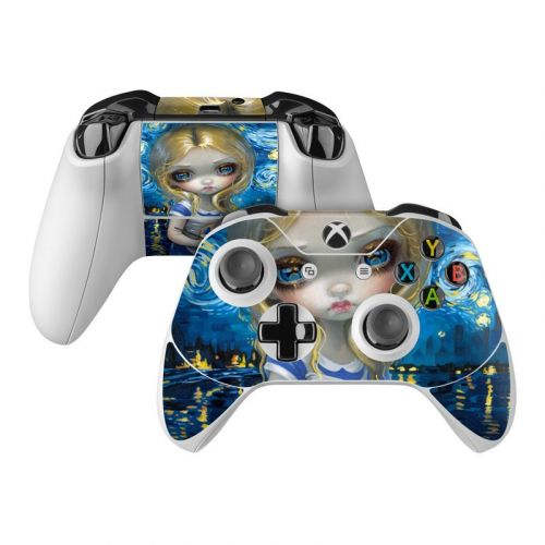 Alice in a Van Gogh Xbox One Controller Skin
