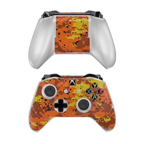 Digital Orange Camo Xbox One Controller Skin