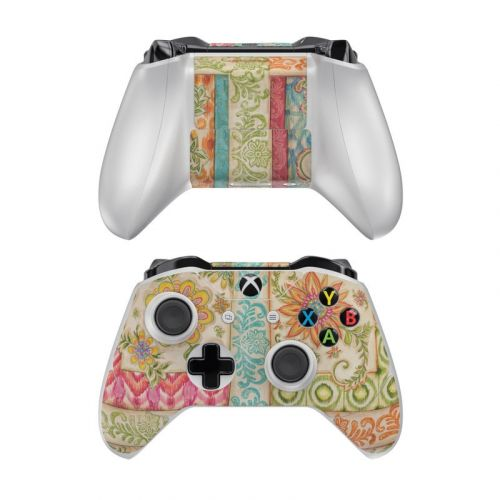 Ikat Floral Xbox One Controller Skin