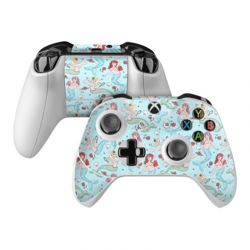 Mermaids and Roses Xbox One Controller Skin