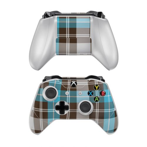 Turquoise Plaid Xbox One Controller Skin