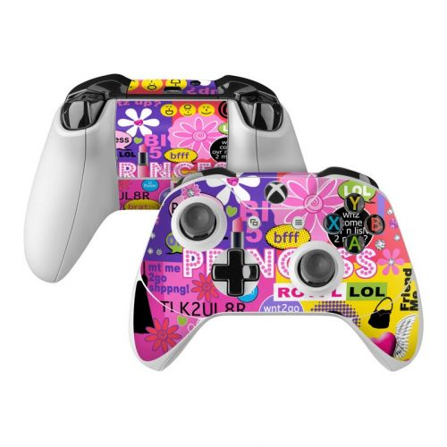 Princess Text Me Xbox One Controller Skin