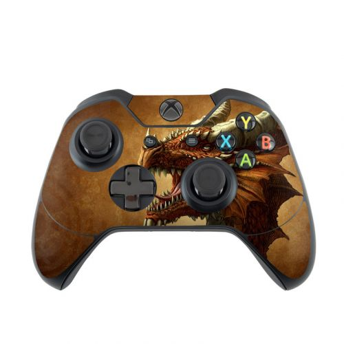 Red Dragon Xbox One Controller Skin