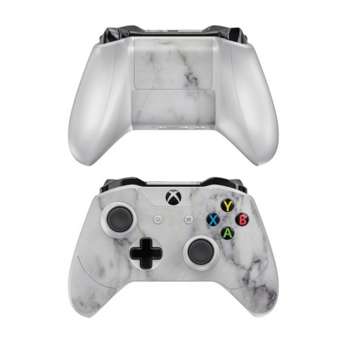 White Marble Xbox One Controller Skin