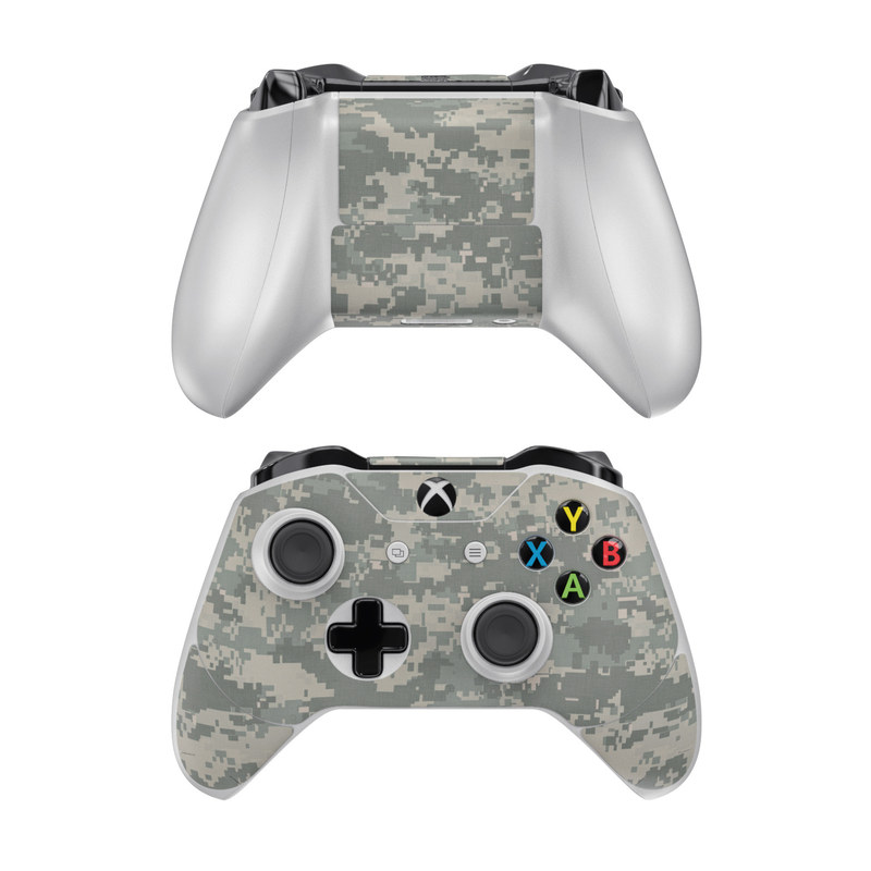 Xbox One Controller Skin design of Military camouflage, Green, Pattern, Uniform, Camouflage, Design, Wallpaper with gray, green colors