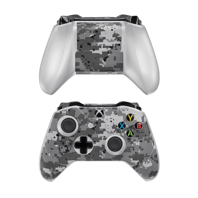 Xbox One Controller Skin design of Military camouflage, Pattern, Camouflage, Design, Uniform, Metal, Black-and-white with black, gray colors
