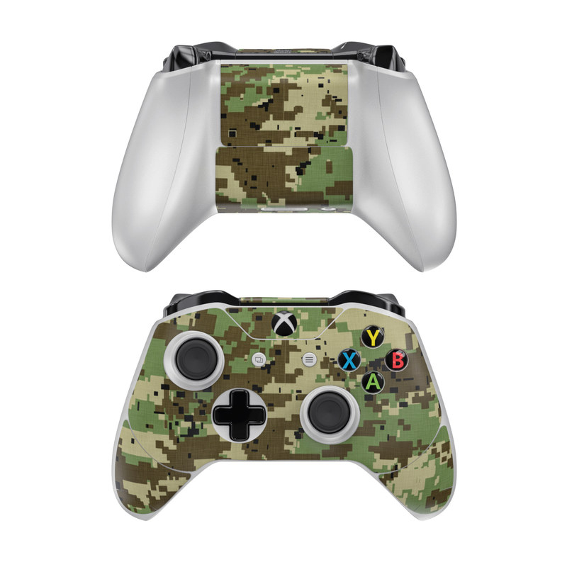 Xbox One Controller Skin design of Military camouflage, Pattern, Camouflage, Green, Uniform, Clothing, Design, Military uniform with black, gray, green colors