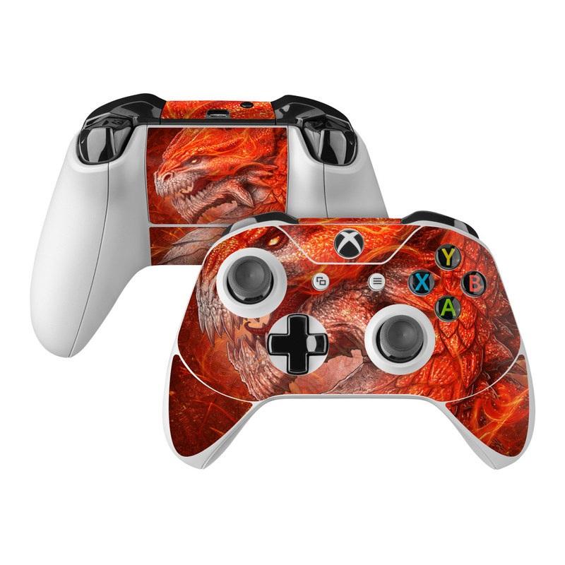 Flame Dragon Xbox One Controller Skin