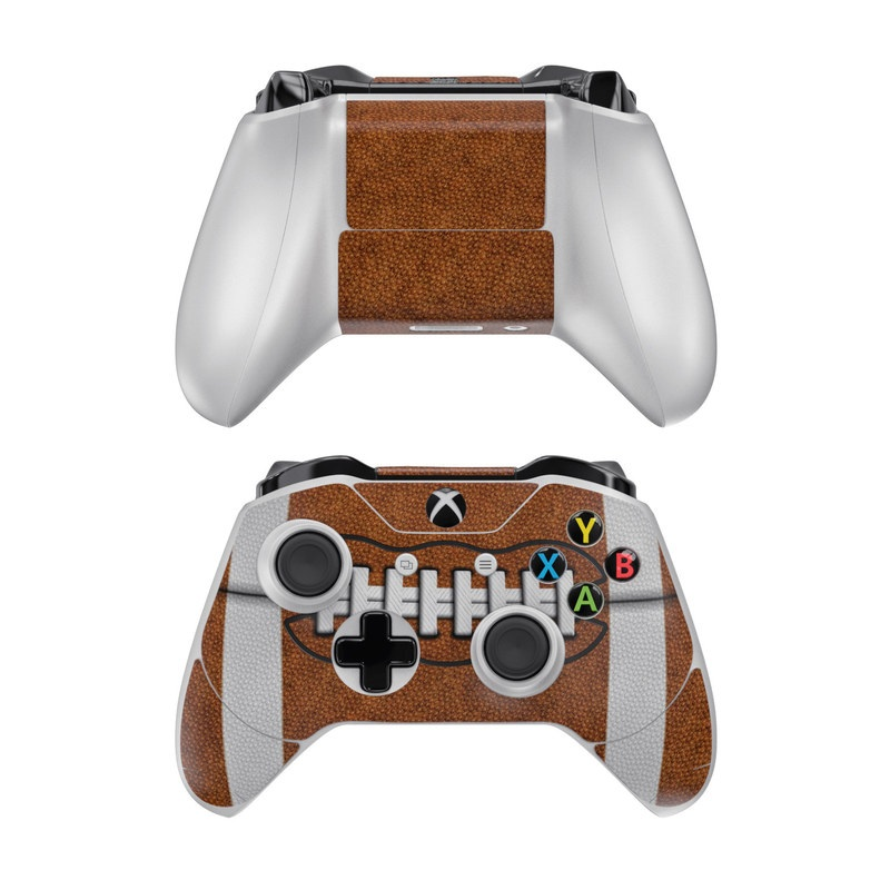 Xbox One Controller Skin design of Brown, Beige, Pattern with black, gray, red, white colors